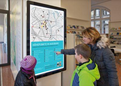 Tourist-Information Augsburg – Infoscreen
