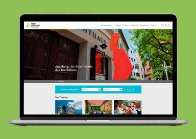 Regio Augsburg Tourismus – Website